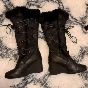 Boots black winter in good condition